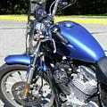 Blue Harley One by Attila Jacob Ferenczi