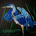 Blue Heron At Night by Anne Sands