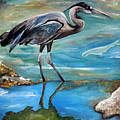 Blue Heron I by Jean Habeck