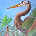 Blue Heron by Joni Dipirro