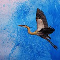 Blue Heron by Lucy Deane