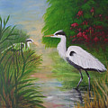 Blue Herons by Barbara Harper
