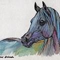 Blue Horse by Angel Ciesniarska