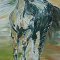 Blue Horse by Edyta Loszakiewicz