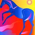 Blue Horse by Mary Armstrong