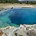 Blue Hot Springs Yellowstone National Park by Garry Gay