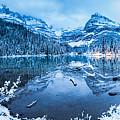 Blue Hour At Lake O'hara by J and j Imagery