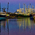 Blue Hour Fishing Boats by Louis Dallara