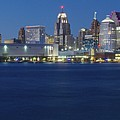 Blue Hour In Detroit by Frozen in Time Fine Art Photography