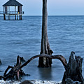 Blue Hour On Lake Pontchartrain by Kay Brewer