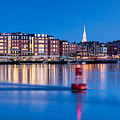 Blue Hour Over Portsmouth New Hampshire by Dawna Moore Photography