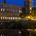 Blue Hour Over The Cocheco Mills Dover New Hampshire by Dawna Moore Photography