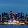 Blue Hour Vancouver Panoramic by Pierre Leclerc Photography