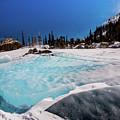 Blue Ice Sheet - Lake Hiayaha by Rob Lantz