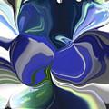Blue Impression by Ilona Burchard