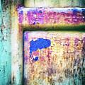 Blue In Iron Door by Silvia Ganora