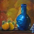 Blue Jug On The Shelf by Carol Sweetwood
