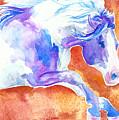 Blue Jumping Paint by Jenn Cunningham