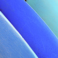 Blue Kayaks by Brandon Tabiolo - Printscapes