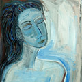 Blue Lady Abstract by Maggis Art