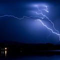 Blue Lightning Sky Over Water by James BO  Insogna
