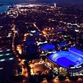 Blue Lsu Tiger Stadium by Andy Crawford