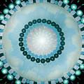 Blue Mandala 5 by Gina De Gorna