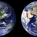 Blue Marble Composite Images Generated By Nasa by Celestial Images