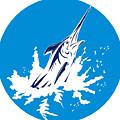 Blue Marlin Circle by Aloysius Patrimonio