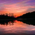 Blue Marsh Lake Sunset by Krystal Billett