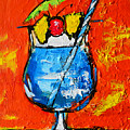 Blue Martini - Hawaiian Style - Tropical Drink by Patricia Awapara