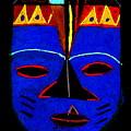 Blue Mask by Angela L Walker