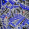 Blue Maze by Sarah Loft