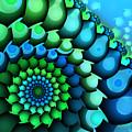 Blue Meets Green by Jutta Maria Pusl