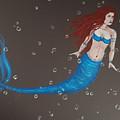 Blue Mermaid by Heather James