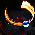Blue Moon Fire Moon Abstract by Jane McDougall