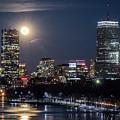 Blue Moon Over Boston by Kristen Wilkinson