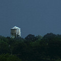 Blue Moon Over Zanesville Water Tower by David Yocum