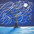 Blue Moon Willow In The Wind by Susan Michutka