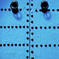 Blue Moroccan Door by Kelly Cheng Travel Photography