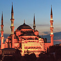 Blue Mosque At Dusk by Emily M Wilson