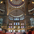 Blue Mosque Interior by Joan Carroll