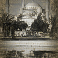 Blue Mosque - Sketch by Stephen Stookey