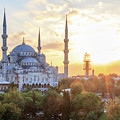 Blue Mosque Sunset by Emily M Wilson