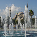 Blue Mosque Through The Fountain by Bob Phillips