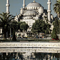 Blue Mosque - Vintage Blue by Stephen Stookey