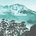 Blue Mountain Winter Landscape by Jorgo Photography - Wall Art Gallery