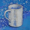 Blue Mug With Flowers by Cathy MONNIER