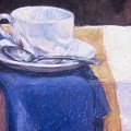 Blue Napkin by Dolores Holt