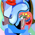 Blue Nude With Tulips by Anthony Falbo